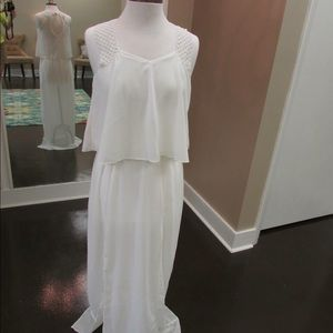 The Hanger Sheer White Maxi Dress